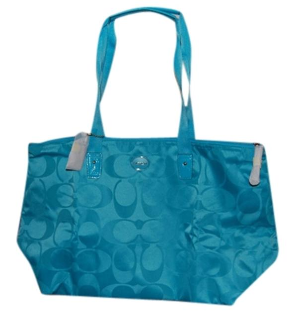 Item - Signature Packable Turquoise Nylon Weekend/Travel Bag