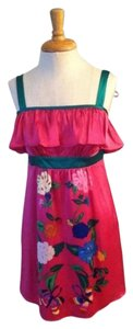 Voom by Joy Han short dress Fuchsia And Green on Tradesy