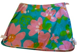 Lilly Pulitzer Floral Colorful Skort Bows Mini Skirt Multi