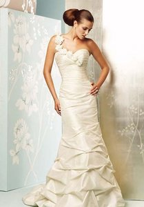 Style 4159 One Shoulder Mermaid & Trumpet Wedding Dress