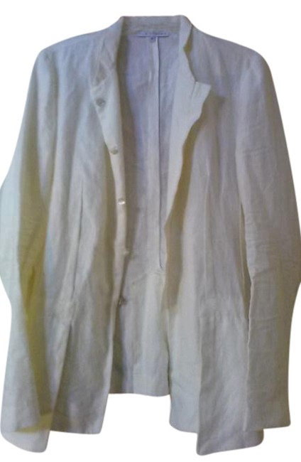 Elm Design White Made In Peru Linen Jacket Size 18 (XL, Plus 0x) Elm Design White Made In Peru Linen Jacket Size 18 (XL, Plus 0x) Image 1