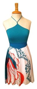 Colcci short dress Teal White on Tradesy