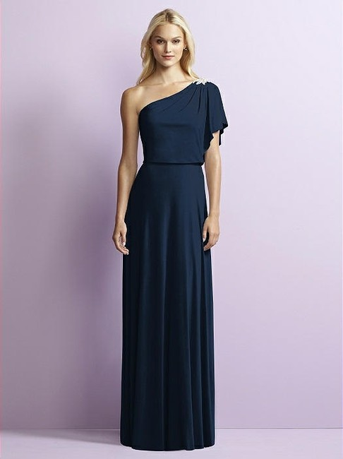 Item - Midnight Navy Jersey Jy512 Modern Bridesmaid/Mob Dress Size 10 (M)