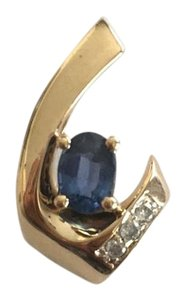 Other STEAL - 14k Yellow gold, Sapphire & Diamond Slide Pendant
