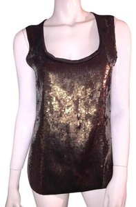 Elie Tahari Top sequin chocolate brown