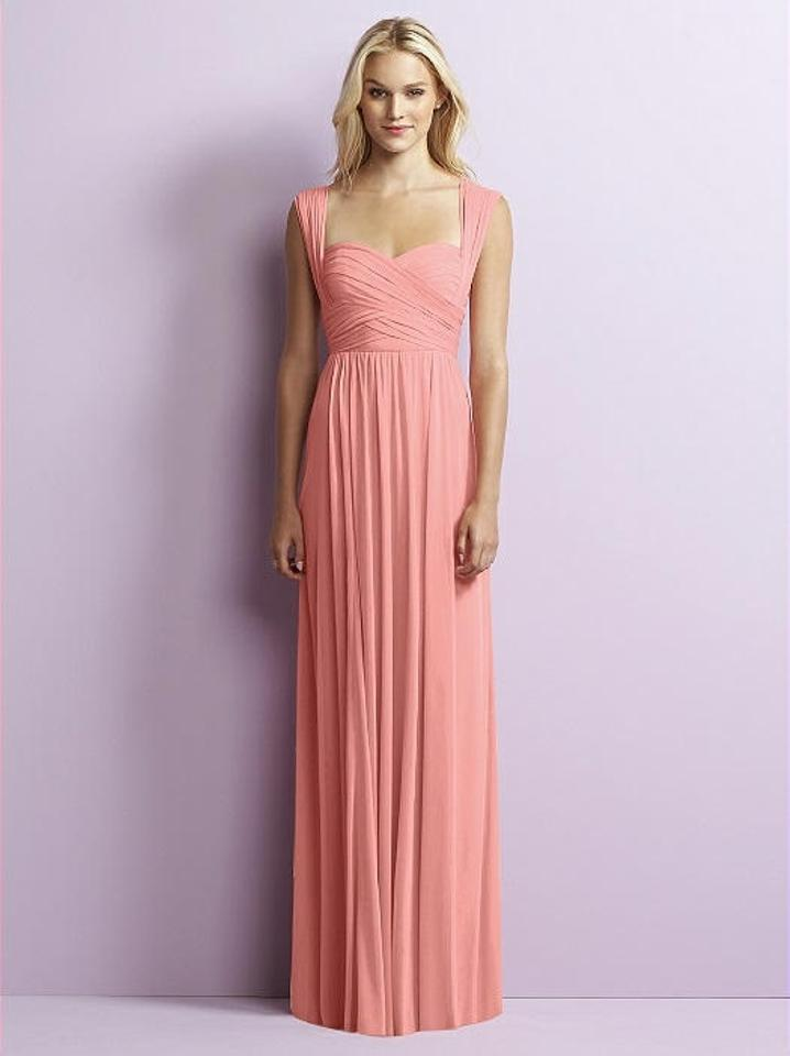 Jenny Yoo Apricot Coral Chiffon Knit Jy515 Traditional Bridesmaid ...
