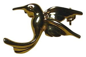 Vintage Gold Tone Humming Bird Brooch