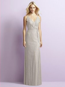Jenny Yoo Oyster Gray Lace Jy519 Feminine Bridesmaid/Mob Dress Size 10 (M)