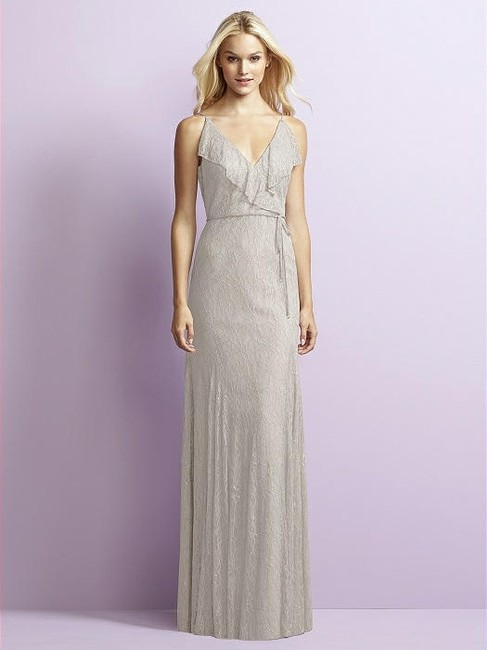 Item - Oyster Gray Lace Jy519 Feminine Bridesmaid/Mob Dress Size 10 (M)