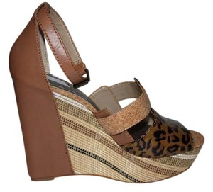 Rachel Roy Wedge Brown Sandals