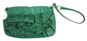 Saint Laurent Pochette Pouch Roses Green Clutch