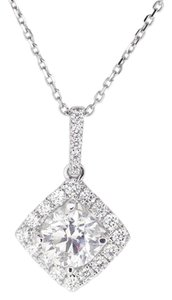 Other 18K White Gold 1.48Ct Diamond Pendant Necklace 3.2 Grams 16