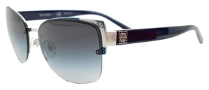 35c729ca8bff Tory Burch Tory Burch Silver Navy 3027/11 Metal Rim Sunglasses TY6034
