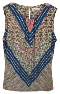 Calvin Klein Geometric Print Sleeveless Top Multi
