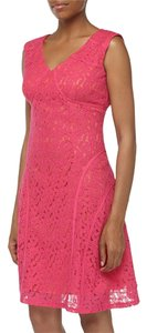 Chetta B. by Sherrie Bloom and Peter Noviello Lace Fit Flare Dress