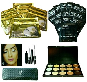 CARE PACKAGE FIBERLASH CONCEALER EYE PATCH AND BLACK HEAD STRIPS