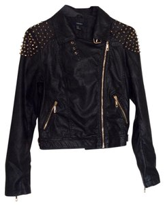 Forever 21 Faux Leather Studded Leather Jacket