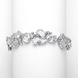 Mariell Multi Shape Cz Wedding Bracelet