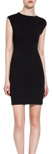 Zara Stretchy Bodycon Fitted Mock Neckline Sleeveless Dress