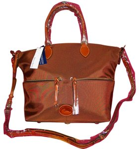 Dooney & Bourke Nylon Large Lightweight Satchel in Brown
