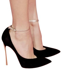 Casadei Blade Suede BLACK Pumps