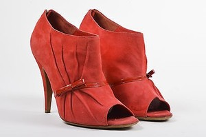 Moschino Cheap And Chic Red Boots