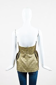 Stella McCartney Metallic Top Gold