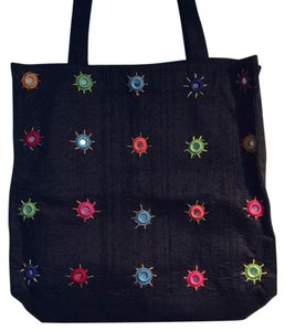Chico's New No Tag Silk Tote in Black