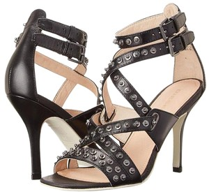 Diesel Leather Studded Black Sandals