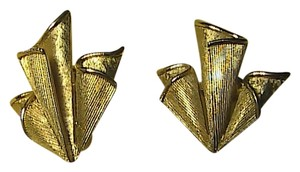 Vintage Trifari Leaf Clip On Earrings