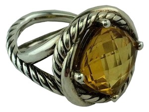 David Yurman Sterling Silver Citrine Cable Ring