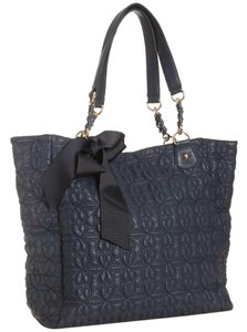 deux lux Tote in Navy Blue