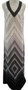 White Black Maxi Dress by Chico's Geometrical Long Summer