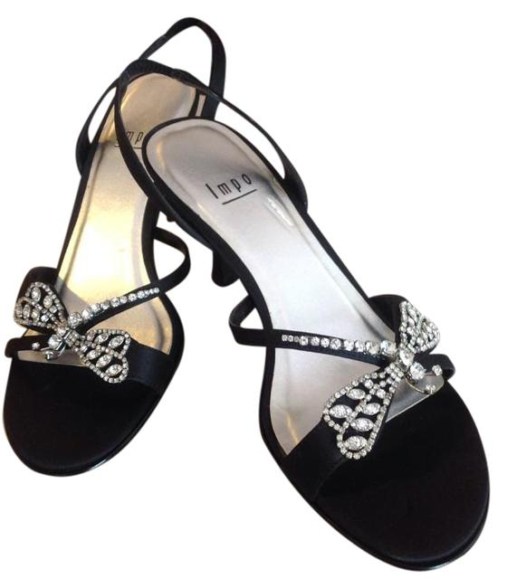 Item - Black with Rhinestone Butterfly Formal Shoes Size US 7.5