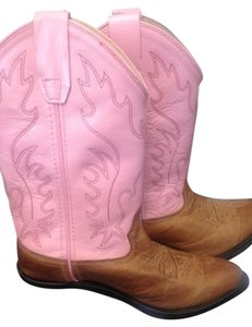 Old West Brown/Pink Boots