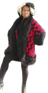 Other Fur Plus-size Zip Zag Fur Coat