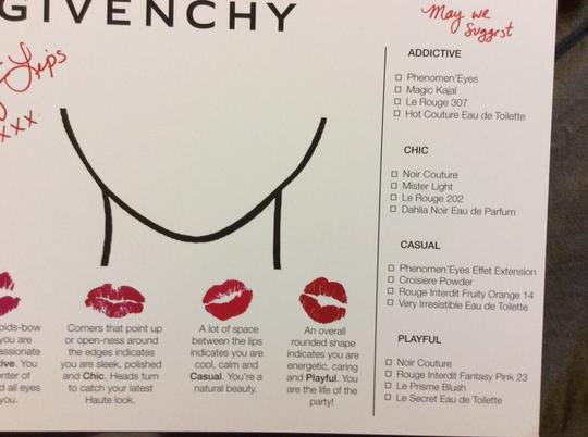 Givenchy Lot Of 25 Givenchy 5x7 Lipstick Advertising Postcards