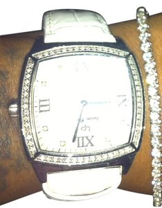 Lucien Piccard 1 ct Diamond White Leather Strap, Timepiece