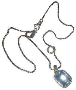 David Yurman DAVID YURMAN BLUE TOPAZ DIAMOND NECKLACE