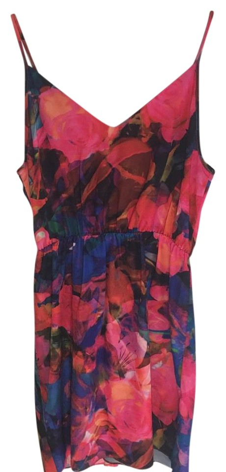 Saks Fifth Avenue Multicolor Mini Cocktail Dress Size 8 (M) - Tradesy