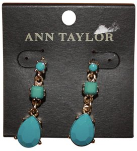 Ann Taylor Long Blue Gem Earrings