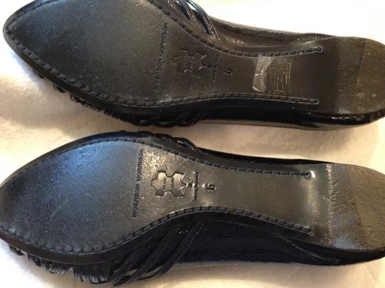 Sigerson Morrison Pointed Toe Patent Leather Black Flats