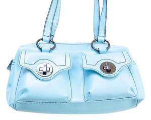 Fisch Purse Shoulder Satchel in Blue