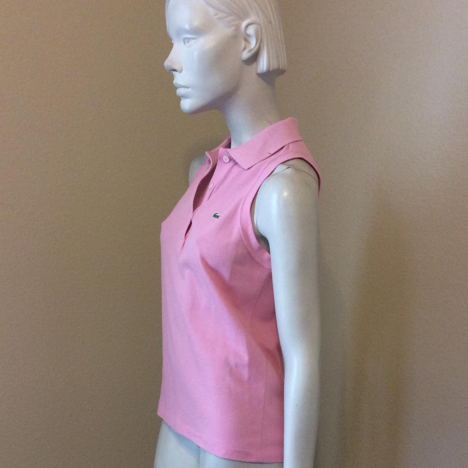 ca3063cc4bfe76 Lacoste Pink Collared Tank Top Cami Size 4 (S) - Tradesy