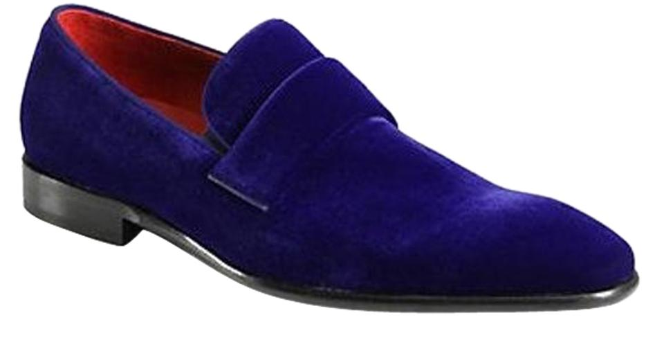 227bfb5804a Hugo Boss Bnlue Men C-evelt Velvet Loafers Formal Shoes Size US 9.5 ...