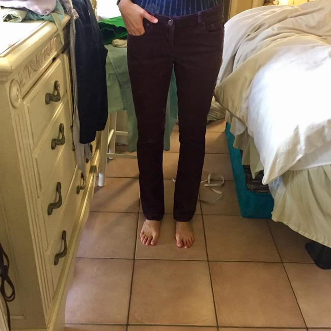 J.Crew Boot Cut Pants Plum Image 1