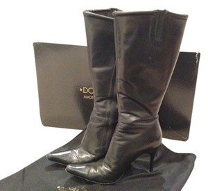 Donald J. Pliner J Tall Toe Stiletto Black Boots