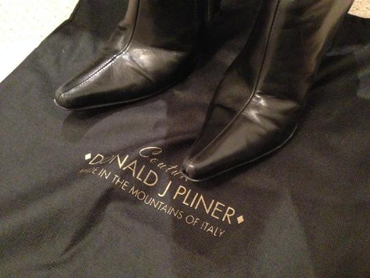 Donald J. Pliner Tall Pointed Toe Stiletto Black Boots