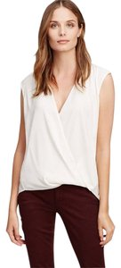 Ann Taylor Draped Sleeveless Top Ivory