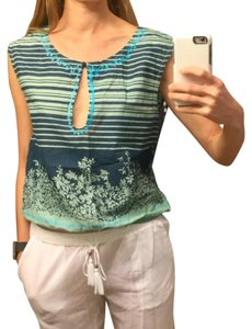 Free People Top Blue and Turquoise
